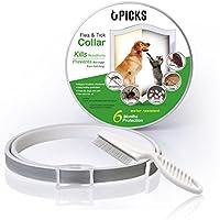 Collar de pulgas para perros, 6 meses de protección contra pulgas y control de garrapatas