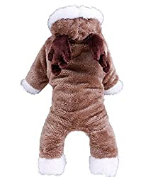 DaHanBL Winter Pet Costume Party Apparel Dog Four Feet Thickening Clothes(M Coffee) from DaHanBL