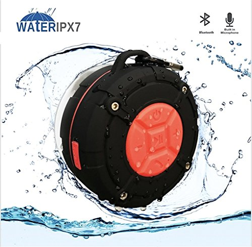 QAZWSX Bluetooth Lautsprecher Wasserdicht Im Freien,Kunststoff Dusche Fahrrad Bass Lautsprecher