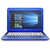"HP Stream 13-c101ns - Portátil de 13.3"" (Intel Celeron N2840, 2 GB de RAM, disco de 32 GB eMMC + 1 TB One Drive, Office 365 Personal, Windows 10 x64), azul - teclado QWERTY Español"