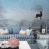 Worryd HD Drucken Poster Bild 3D Tier Baum Tapete Wandbild Drucken Foto Tapeten für Wohnzimmer Schlafzimmer Wand-dekor Malerei Wandbilder, G