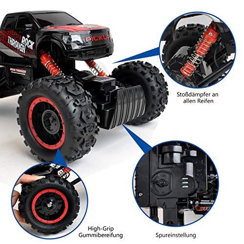 RC Auto kaufen Crawler Bild 4: Maximum RC Ferngesteuertes Auto für Kinder - 4WD Monstertruck - XL RC Auto für Kinder ab 8 Jahren - Rock Crawler (rot)*