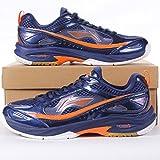Li-Ning Badminton Professional Herren Pro Indoor Schuh Trainer orange & blau Blau blau 7