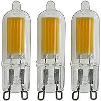 3X G9LED 2,5Watt COB in vetro bianco caldo lampadina lampadina lampada lampadina alogena lampada ~ 25W