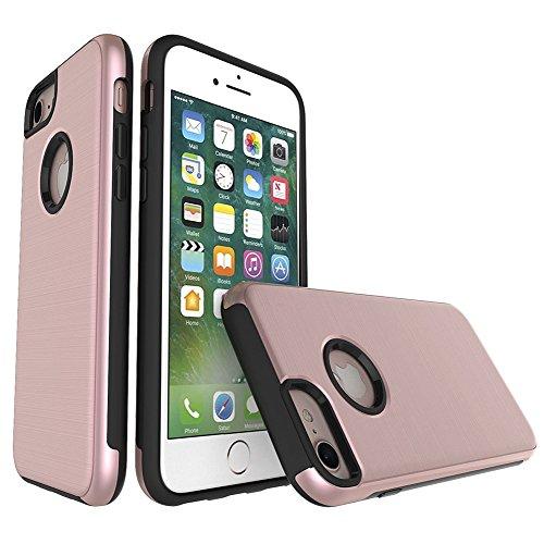 """iPhone 6s Schutzhülle, [Tough Armor] CLTPY iPhone 6 Handycase Ultra Hybrid PC & Silikon Abdeckung mit Flip [Kickstand] & Kartenschlitz, Schwarz Rüstung Harter Fall für 4.7"""" Apple iPhone 6/6s + 1 x Sti Rose Gold"""