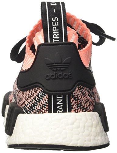 adidas Damen NMD_r1 Primeknit Sneaker Low Hals Mehrfarbig (Core Black/clear Onix/sun Glow S16)
