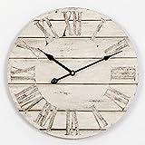Vintage Wanduhr Holz Wanduhren Einfache Wandtattoo Leise Funkwanduhr C-Cakus Küchenwanduhr Dekoration für Wohnzimmer Kinderzimmer Bar