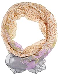 Chiffon Fashion Scarf / Animal Flower Printed Classy Scarves (Flower Spotted - Brown)