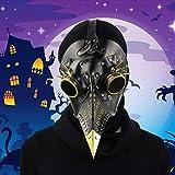 Máscara de pico Falsa Piel Plaga Doctor Máscara Disfraz de Halloween Cosplay Steampunk Costume para adulto