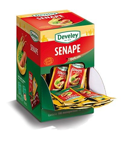 Aperisnack - AP05.010.01 Senape delicata Develey monodose - 100 bustine da 15 ml