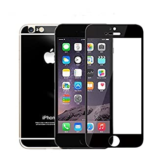 AcenX Extra Mirror Bright Plated Film Premium Tempered Protective Mirror Effect Glass Film Screen Protector for iPhone 6 Screen Protector Skin(Black)