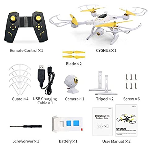 H39WH FPV Drone With LED Night Lamp, Kobwa 720P Wifi