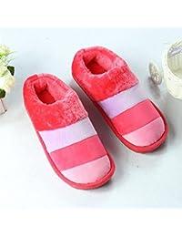 mhgao mujeres casa zapatillas interiores zapatillas de algodón de ocio, 3, medium