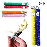 1 stück Papagei Quarz Standfuß Sicherheit Barsch für Papagei Vögel Spielzeug Holz Schleifsteine Barsch Paw Schleifen Spielzeug (zufällige Farbe 5,6 Zoll)