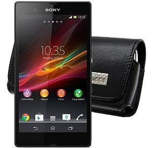 MTT Quertasche für das Sony Xperia SP mit Gürtelschlaufe schwarz
