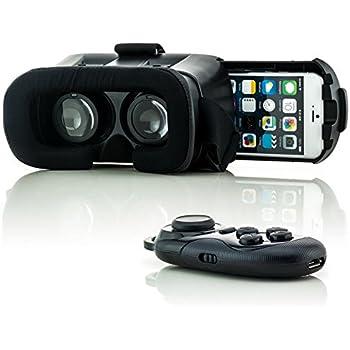 Saxonia VR Box Casque Lunettes De Réalité Virtuelle 3D + Bluetooth ...