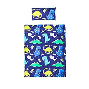 Single Size Duvet Cover Set Dinosaurs In the Dark with Pillowcase