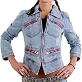 MET Damen Jeansjacke Denim Cheeky Blue 151686-1 Größe XS