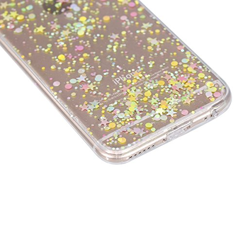 Custodia iPhone 7, Cover iPhone 8 Trasparente, Brillantini Cover Custodia in Silicone per iPhone 7 / 8 Apple, Surakey Belle Elegante Custodia con Glitter Sottile e Morbida TPU Gomma Case Colorate Blin Stella Colore Clear