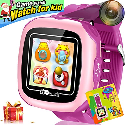 1.5'' Kids Game Smart Watch for Children Girls Boys with Touch Screen Camera 10 Games Pedometer Camera Holiday Toy Smartwatch Wrist Watch Health Monitor Electronic Learning Toys