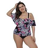 Damen Neckholder Push Up Sport Streifen Bikini Set Bandeau Strandmode Bademode Badeanzug Zweiteilige Gepolstert Strandkleidung Split