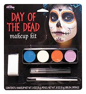 Der Tag der Toten Geist Mädchen Make Up Kit - Halloween Fancy Dress - Geist Make-up-halloween-ideen