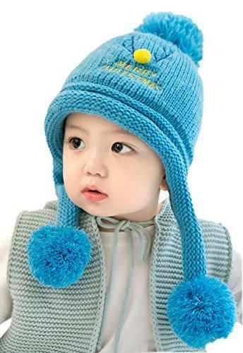 GZMM Baby Earflap Winter Woolen Hat Beanie Skull Cap For Unisex Infant  Christmas Deer (Blue) Buy GZMM Baby Earflap Winter Woolen Hat Beanie Skull  Cap For ... f469c3e166f