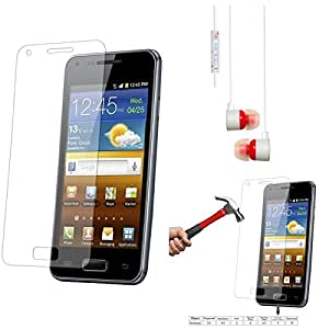 Qualitas Pack of 2 Tempered Glass for Micromax Canvas 2.2 A114 + White Stereo Earphone with Mic and Volume Control