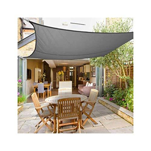 HHJJ Sonnensegel Rechteck Grau Wasserdichter Sonnensegel Baldachin für Terrassen Quadratische UV-Block Markise Dickes, abriebfestes Sonnensegel,3x5m(10x16.5ft)