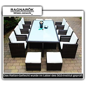 ragnar k m beldesign gartenm bel essgruppe inkl glas und sitzkissen. Black Bedroom Furniture Sets. Home Design Ideas