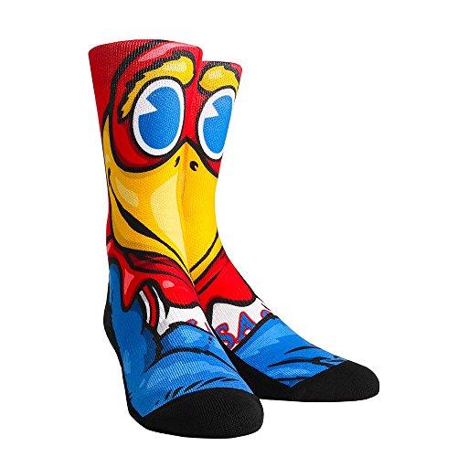 Rock'em Apparel Kansas University KU Jayhawks Custom Athletic Crew Socken, Unisex-Erwachsene, Mascot, S/M Kansas University