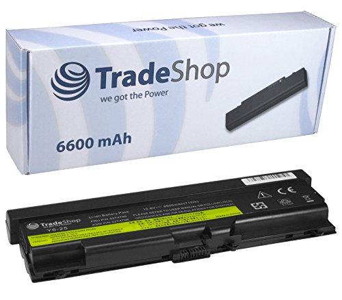 """TradeShop Hochleistungs Laptop Notebook Akku 10,8V/11,1V 6600mAh für IBM Lenovo ThinkPad L410 L412 L510 L512 SL410 SL410k SL510 SL510 SL510 T410 T510 T510i W510 SL510 E40 E50 Edge 14"""" Zoll 15"""" Zoll"""