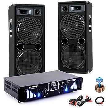 2400W PA Musikanlage Beschallungssystem Boxen Bluetooth USB MP3 Verstärker DJ-169