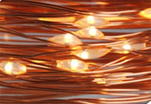 Cascata LED rame 80 luci extra caldo a corrente art. AX8704110