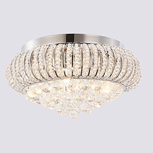 OOFAY LIGHT Edle LED -Kristalldeckenleuchte 5 Licht -