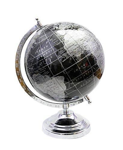 Decorativo escritorio mesa Decor negro Color giratoria World Globe 12'' mapa del mundo con soporte por 'El Sr. Globo'