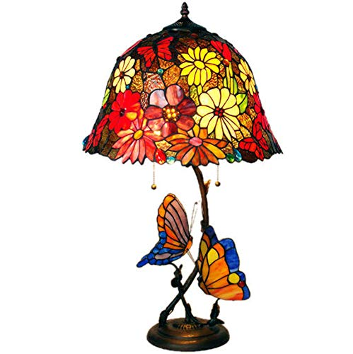 (16 Zoll) Tischlampe Tiffany Stil europäischen Retro Kunst kreative Farbe Glas Tischlampe Wohnzimmer Lampe Schlafzimmer Bett neue Sonne Blume Tischlampe