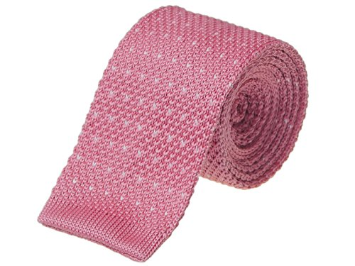 knight-premium-knitted-chevron-tie-slim-tie-flat-bottom-tie-various-colours-to-choose-from-salmon-pi