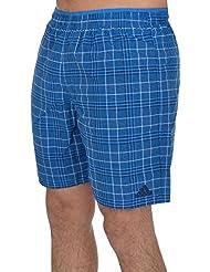 adidas Performance Mens Pool Beach Check Swimming Swim Shorts - Blue