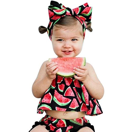 summer-toddler-baby-girl-lovely-outfits-watermelon-pattern-off-shoulder-tops-shorts-pant-headband-fo