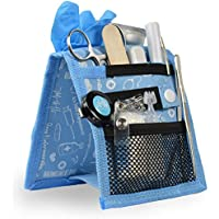 Organizador auxiliar de enfermería | Keen's | Mobiclinic | Para bata o pijama | Diseño exclusivo con estampados en color azul | Amo la enfermería