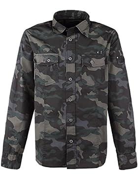 Brandit Camisa Ajustada Camisa Camuflage oscuro M