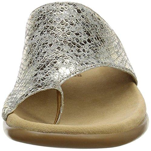 Gabor Damen Fashion Pantoletten Beige (kiesel 83)