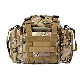 jEZmiSy Hiking Bum Hip Ruck Sack Tactical Waist Pack Military Molle Pouch Shoulder Bag CP Camouflage