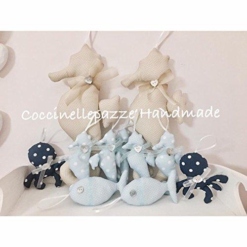 Bomboniere in stile marino - cavalluccio marino - stella marina - pesciolini - polipi - conchiglia - lumaca ideali per ogni occasione battesimo comunione cresima nascita matrimonio