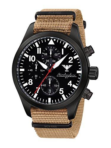KHS Reloj para Hombre Analógico Cuarzo con Brazalete de Nylon KHS.AIRBSC.NT