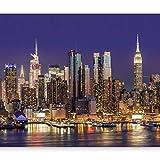murando - Fototapete 300x210 cm - Vlies Tapete - Moderne Wanddeko - Design Tapete - Wandtapete - Wand Dekoration - Stadt City New York Manhattan Hochhaus Architektur d-B-0060-a-b