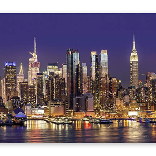 Murando – fotomurali 350x256 cm - carta da parati sulla fliselina - carta da parati in tnt - quadri murali xxl - fotomurale - city citta city new york manhattan architecture architettura d-b-0060-a-b