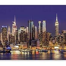 murando Carta da parati 400x280 cm Fotomurali in TNT Murale alla moda Decorazione da Muro XXL Poster Gigante Design Carta per pareti Citta City New York Manhattan Architettura d-B-0060-a-b