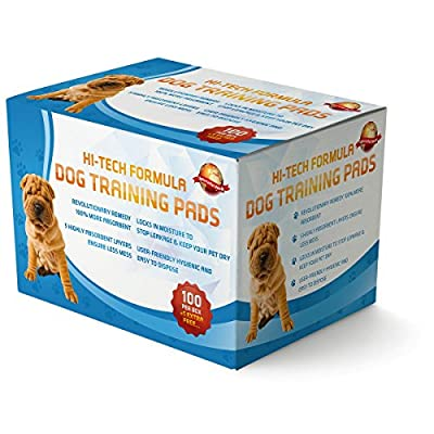 Puppy Training Pads 100 + 5 Extra FREE|60cm x 60cm New Super Absorbent Size|This New Unique 5 Layer Solution Protects Laminated Floors Carpets From Smelling|These Are A Heavy Duty Dog Pad|30 Day Guarantee Giving...